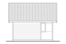 Architectural House Design - Modern Exterior - Rear Elevation Plan #124-1199