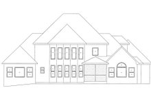 Dream House Plan - European Exterior - Rear Elevation Plan #437-6