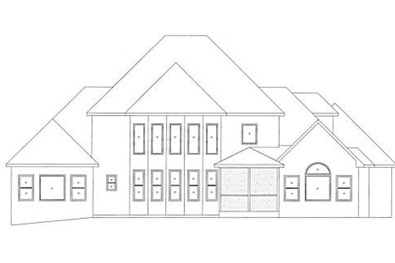 European Exterior - Rear Elevation Plan #437-6 - Houseplans.com