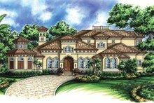 Architectural House Design - Mediterranean Exterior - Front Elevation Plan #1017-43