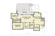 European Style House Plan - 5 Beds 4 Baths 4942 Sq/Ft Plan #1070-6 Floor Plan - Lower Floor Plan