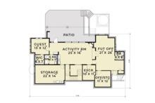 European Floor Plan - Lower Floor Plan Plan #1070-6