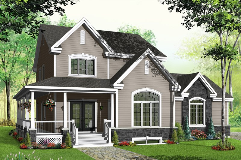 Architectural House Design - Country Exterior - Front Elevation Plan #23-2352