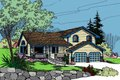 Traditional Style House Plan - 3 Beds 3 Baths 1662 Sq/Ft Plan #60-103 Exterior - Front Elevation