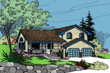 Home Plan Design - Traditional Exterior - Front Elevation Plan #60-103
