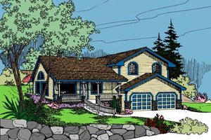 House Design - Traditional Exterior - Front Elevation Plan #60-103