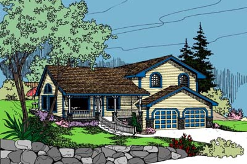 Traditional Exterior - Front Elevation Plan #60-103 - Houseplans.com