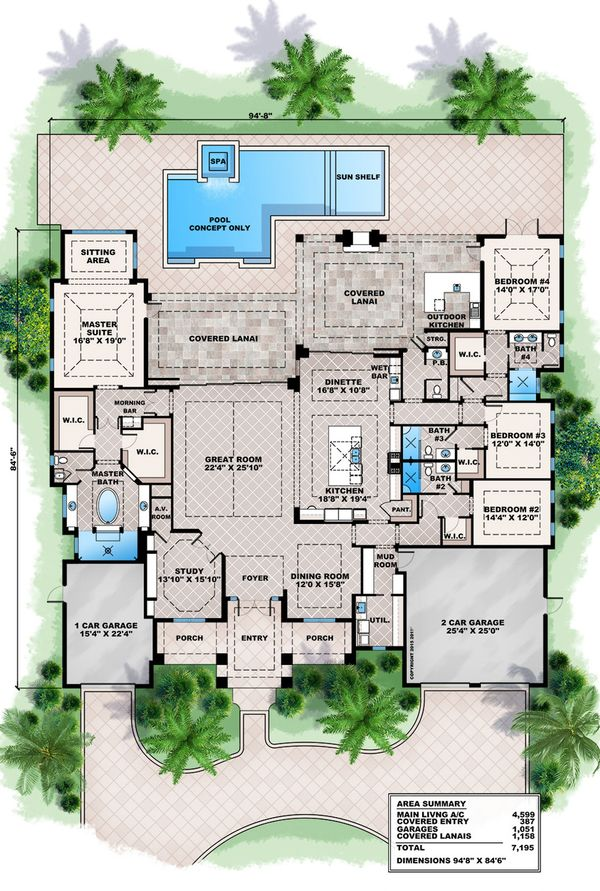 Contemporary Floor Plan - Main Floor Plan Plan #27-493
