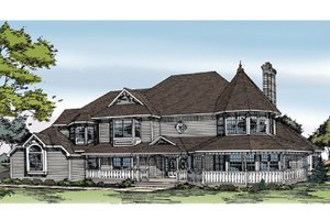 Dream House Plan - Victorian Exterior - Front Elevation Plan #314-216