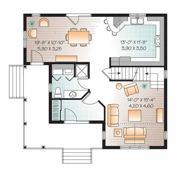 Country Floor Plan - Main Floor Plan Plan #23-2551