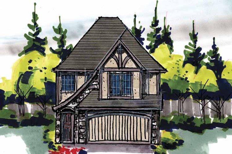 Tudor Exterior - Front Elevation Plan #509-210 - Houseplans.com