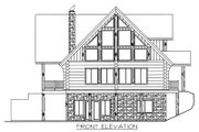 Log Style House Plan - 4 Beds 3 Baths 3725 Sq/Ft Plan #117-415 Exterior - Other Elevation