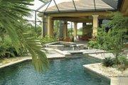 Mediterranean Style House Plan - 3 Beds 3 Baths 3674 Sq/Ft Plan #930-415 Exterior - Rear Elevation