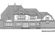 European Style House Plan - 5 Beds 4.5 Baths 5796 Sq/Ft Plan #413-125 Exterior - Rear Elevation