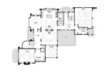 Tudor Floor Plan - Main Floor Plan Plan #928-275