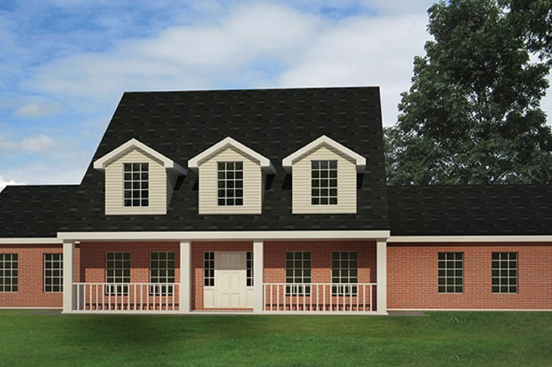 Colonial Exterior - Front Elevation Plan #1061-2 - Houseplans.com