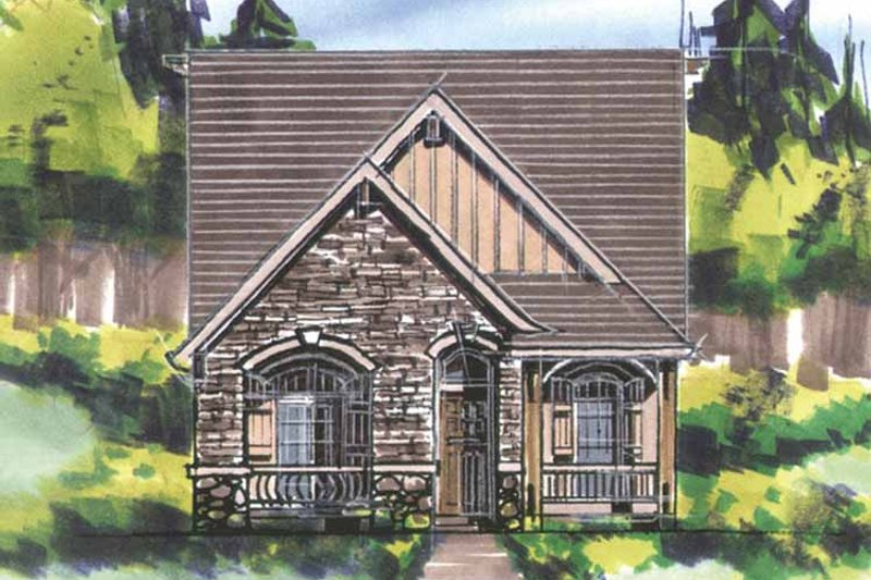Traditional Exterior - Front Elevation Plan #509-192 - Houseplans.com