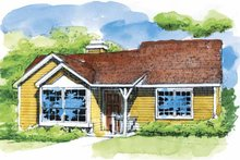 Ranch Exterior - Front Elevation Plan #320-664