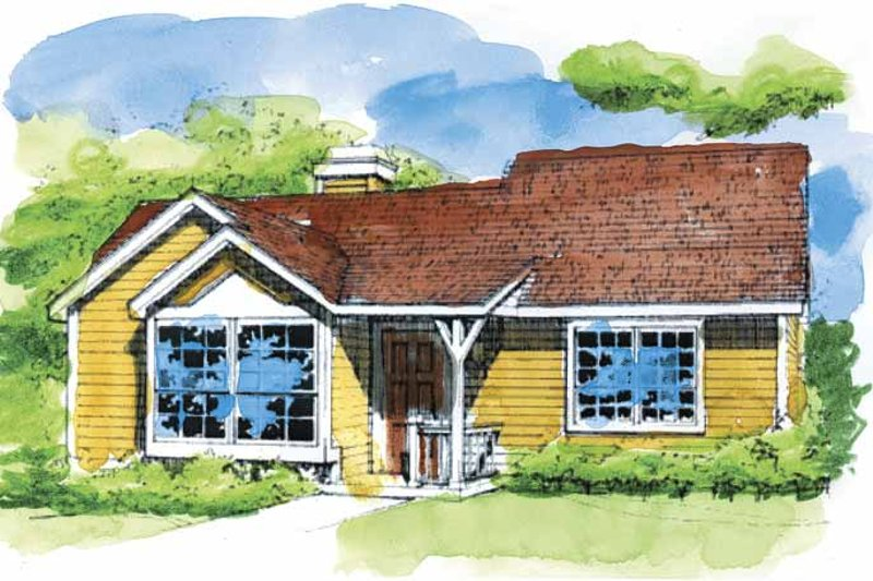 Architectural House Design - Ranch Exterior - Front Elevation Plan #320-664