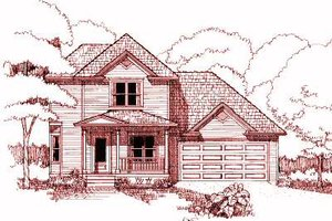 Country Exterior - Front Elevation Plan #79-188