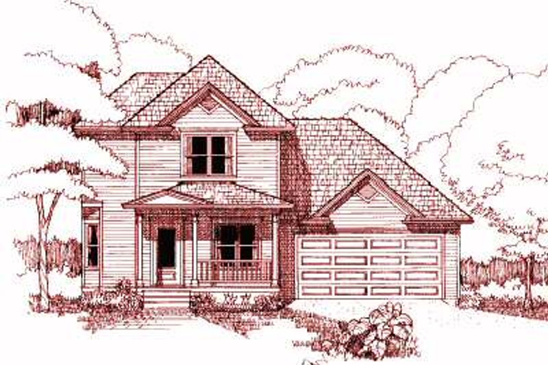 Country Style House Plan - 3 Beds 3 Baths 1372 Sq/Ft Plan #79-188 Exterior - Front Elevation