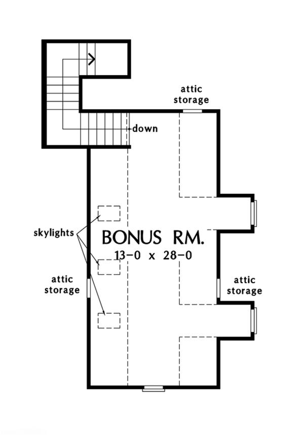 European Floor Plan - Other Floor Plan Plan #929-984