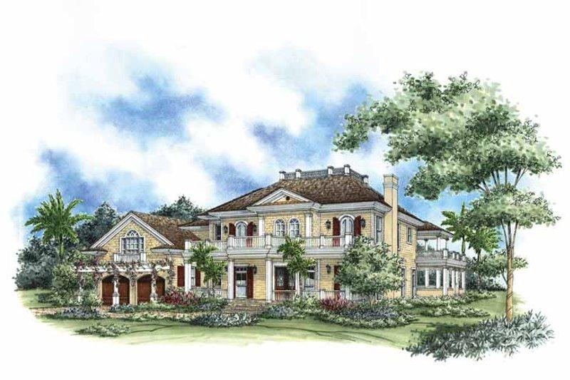 Dream House Plan - Mediterranean Exterior - Front Elevation Plan #1017-71