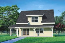 Architectural House Design - Cottage Exterior - Front Elevation Plan #124-1223