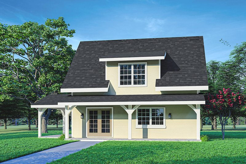 Cottage Style House Plan - 0 Beds 1 Baths 1382 Sq/Ft Plan #124-1223
