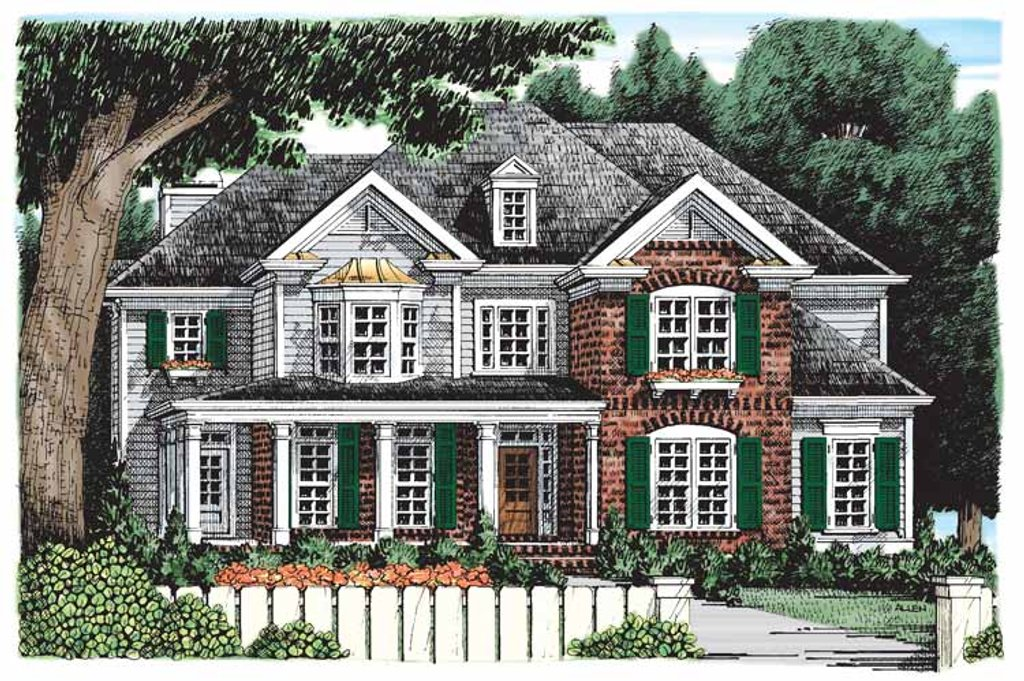 Traditional Exterior - Front Elevation Plan #927-529