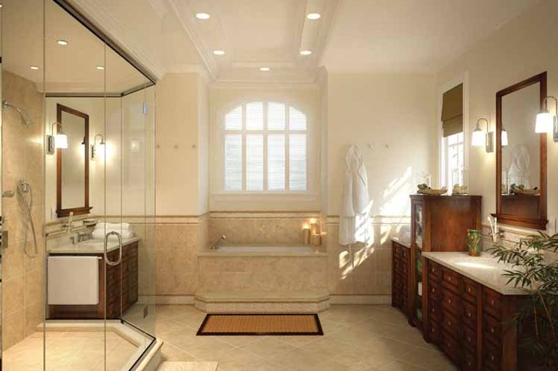Country Interior - Master Bathroom Plan #938-14 - Houseplans.com