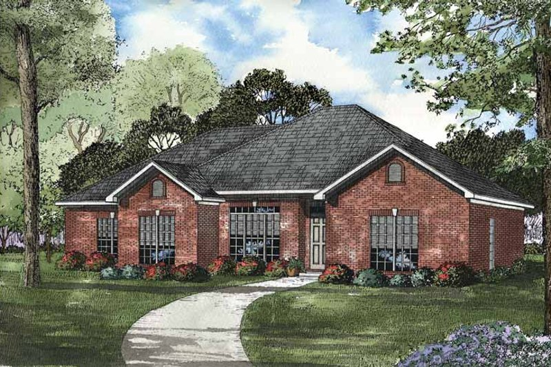 Home Plan - Ranch Exterior - Front Elevation Plan #17-2982