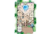 Mediterranean Style House Plan - 5 Beds 5.5 Baths 6197 Sq/Ft Plan #27-392 Floor Plan - Main Floor Plan