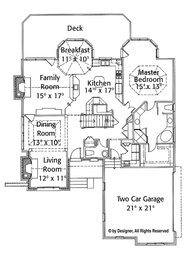 Country Floor Plan - Main Floor Plan Plan #429-292