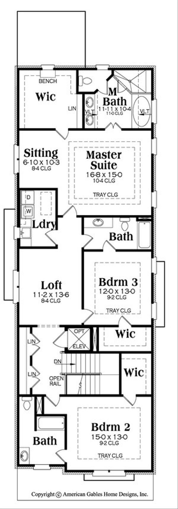 Victorian Floor Plan - Upper Floor Plan #419-318