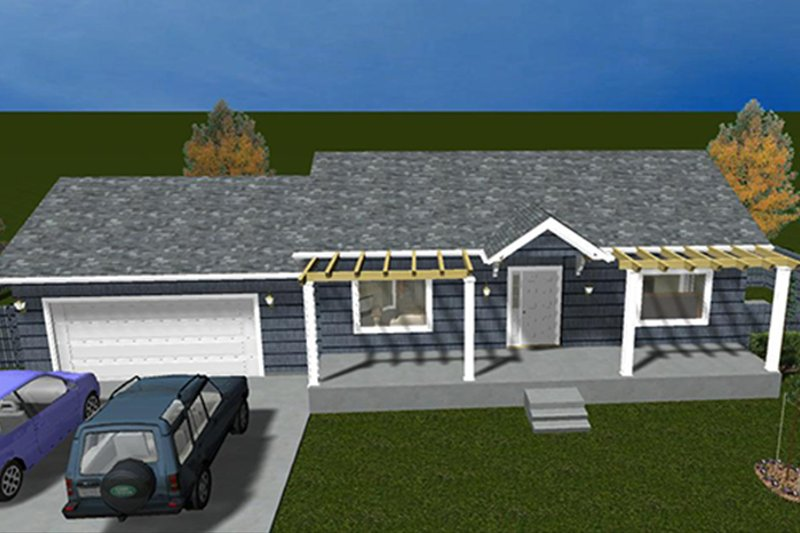 Ranch Exterior - Front Elevation Plan #1060-28 - Houseplans.com