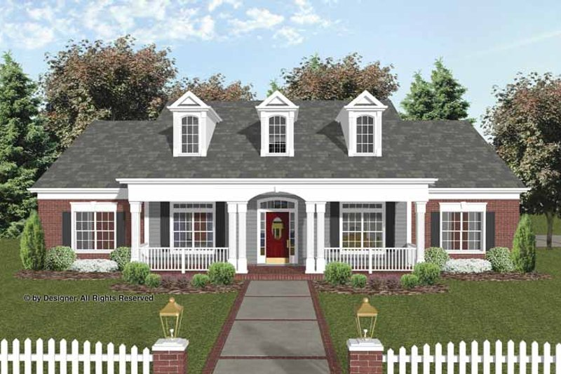House Plan Design - Traditional Exterior - Front Elevation Plan #56-693