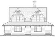 Log Style House Plan - 2 Beds 2 Baths 1338 Sq/Ft Plan #928-281 Exterior - Front Elevation