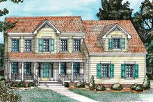 Country Exterior - Front Elevation Plan #1055-1