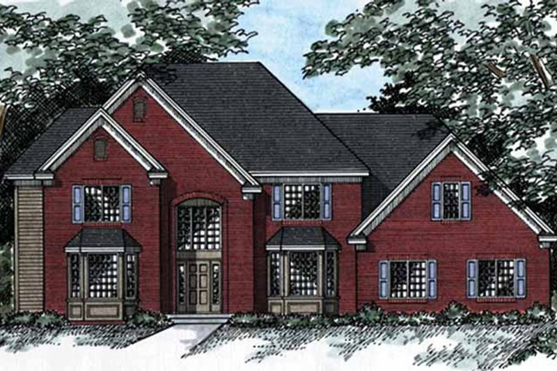 Traditional Exterior - Front Elevation Plan #51-961 - Houseplans.com