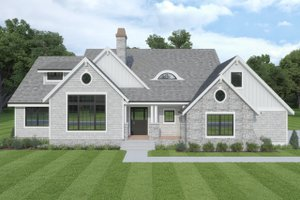Cottage Exterior - Front Elevation Plan #1070-107
