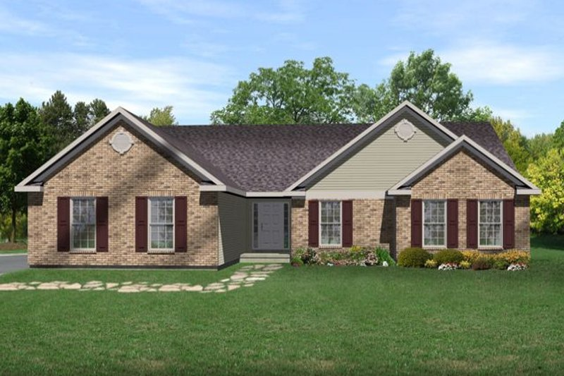 Ranch Exterior - Front Elevation Plan #22-457