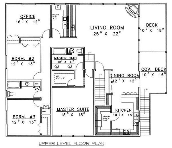 Traditional Floor Plan - Main Floor Plan Plan #117-538