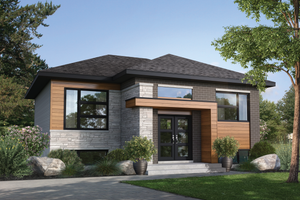Contemporary Exterior - Front Elevation Plan #25-4895