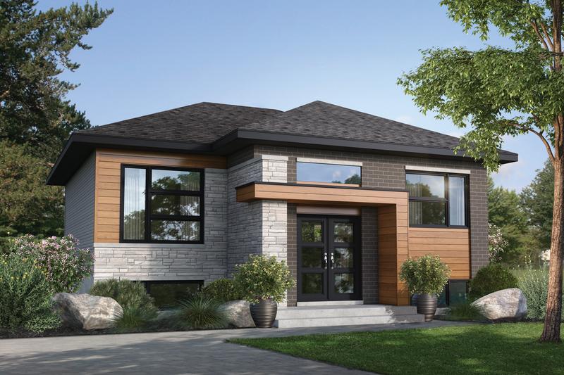 House Plan Design - Contemporary Exterior - Front Elevation Plan #25-4895