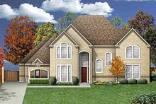 Dream House Plan - Traditional Exterior - Front Elevation Plan #84-154