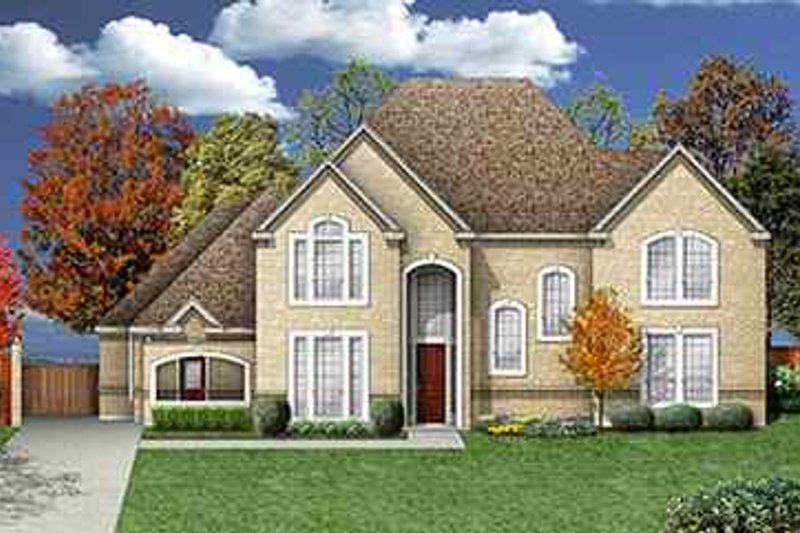 Traditional Exterior - Front Elevation Plan #84-154 - Houseplans.com