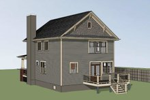 Dream House Plan - Craftsman Exterior - Rear Elevation Plan #79-266