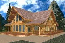 Home Plan - Log Exterior - Front Elevation Plan #117-126