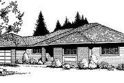 Traditional Style House Plan - 3 Beds 2 Baths 1253 Sq/Ft Plan #85-110 Exterior - Front Elevation